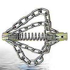 KETTENSCHLEUDERKOPF KETTENSCHLEUDER 22mm 4 Ketten mit Spikes für Rohrreinigung